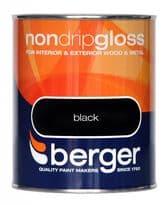 Berger Non Drip Gloss 750ml - Navy Blue